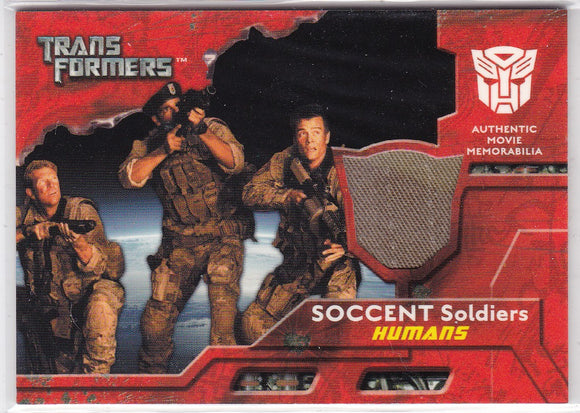 2007 Topps Transformers Movie Memorabilia SOCCENT Soldiers Humans Uniform Jacket