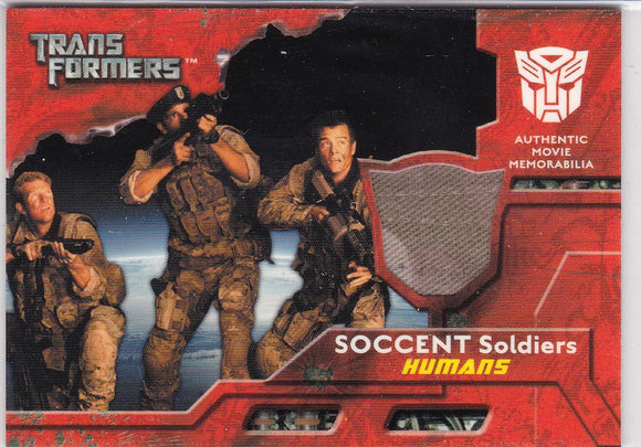 2007 Topps Transformers Movie Memorabilia SOCCENT Soldiers Humans Uniform Pants