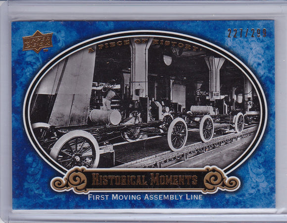 2009 A Piece Of History Baseball card #169 First Assembly Line Blue #d 227/299