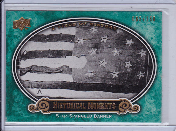 2009 A Piece Of History Baseball card #151 Star Spangled Banner Green #d 065/150