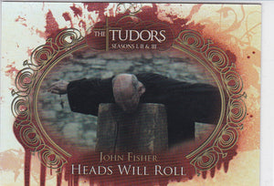 The Tudors Seasons 1 2 & 3 Heads Will Roll Foil Insert card HWR2