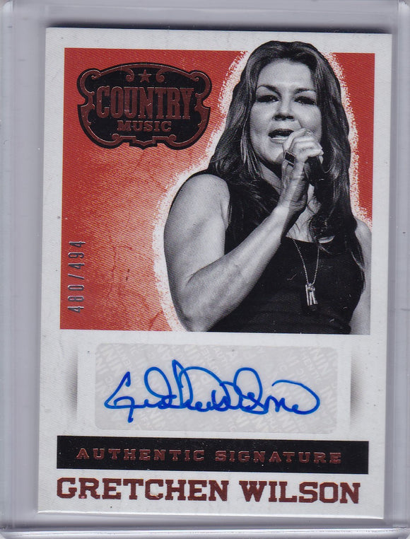 Gretchen Wilson 2014 Panini Country Music Autograph card S-GW #d 480/494