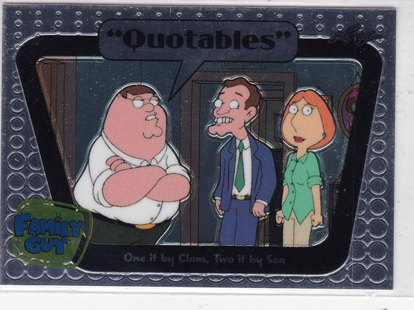 Family Guy Seasons 3, 4 & 5 Quotables Insert card Q02
