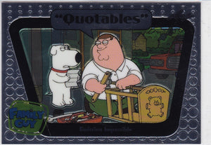 Family Guy Seasons 3, 4 & 5 Quotables Insert card Q07