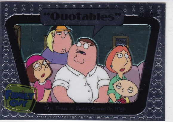 Family Guy Seasons 3, 4 & 5 Quotables Insert card Q10