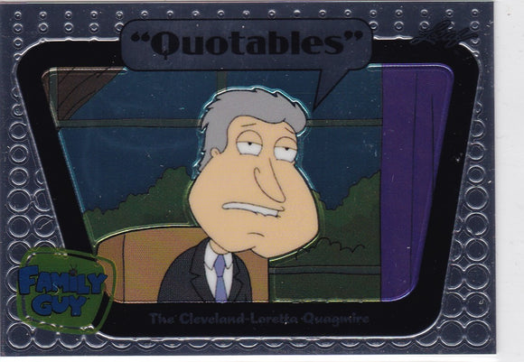 Family Guy Seasons 3, 4 & 5 Quotables Insert card Q12