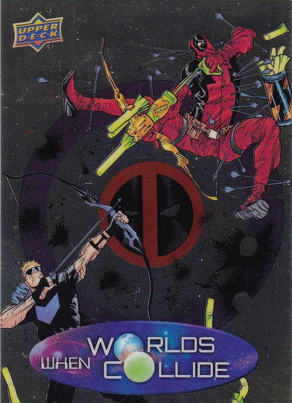 2015 Marvel Vibranium When Worlds Collide card WC-20 Hawkeye Vs Deadpool