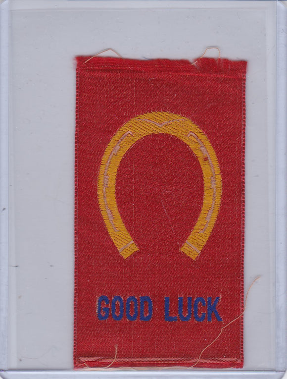Imperial Tobacco Canada Woven Silk 1910-15 - Good Luck Horseshoe - Red