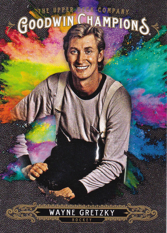 Wayne Gretzky 2018 Goodwin Champions Splash of Color card #140