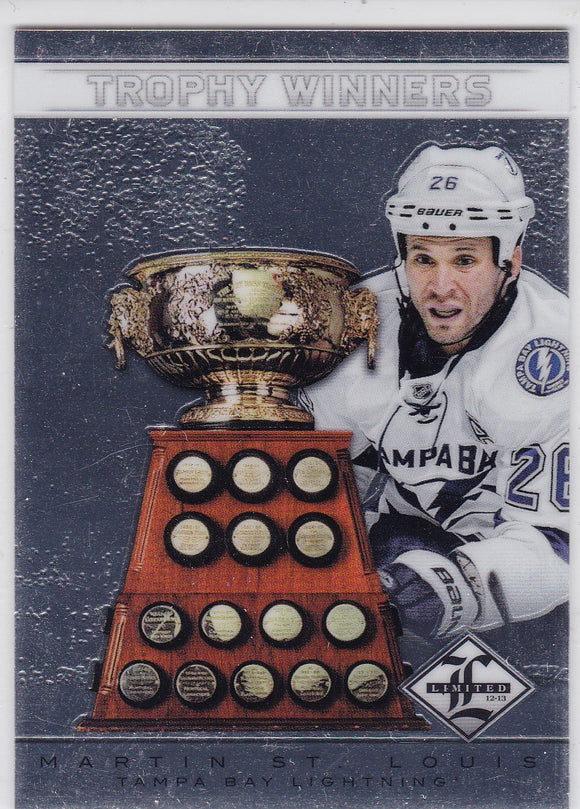 Martin St. Louis 2012-13 Limited Trophy Winners card TW-20 #d 132/199