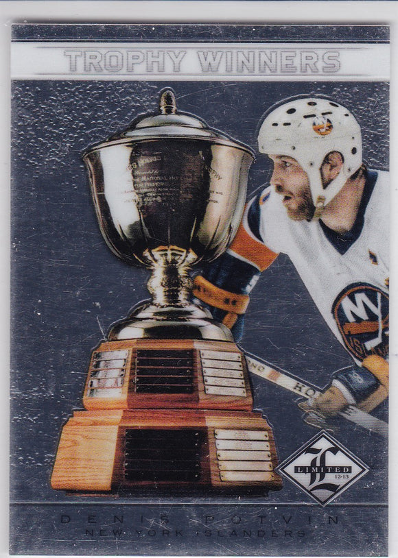 Denis Potvin 2012-13 Limited Trophy Winners card TW-26 #d 162/199