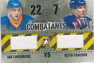 Ian Lapierre Keith Tkachuk 2013-14 Enforcers 2 Combatants Jersey card C-11