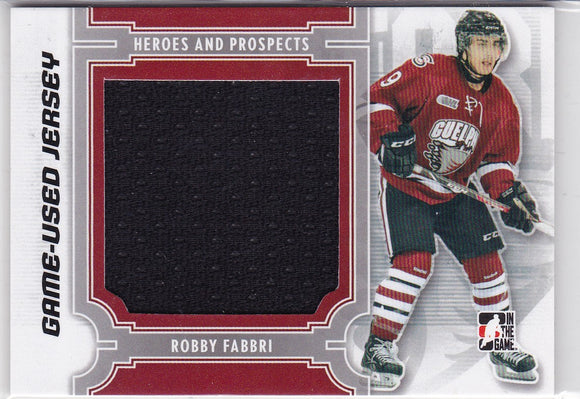 Robby Fabbri 2013-14 Heroes And Prospects Game-Used Jersey card M-28