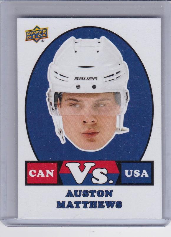 Auston Matthews 2017-18 UD Canadian Tire Team Canada Versus card VS-1
