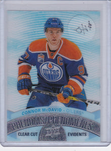 Connor Mcdavid 2017-18 Tim Hortons Hockey Clear Cut Phenoms card CCP-1