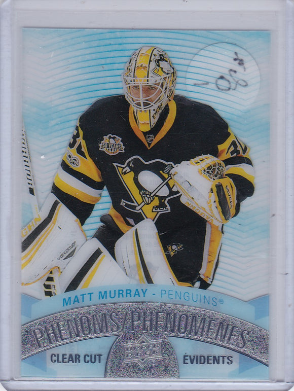 Matt Murray 2017-18 Tim Hortons Hockey Clear Cut Phenoms card CCP-12