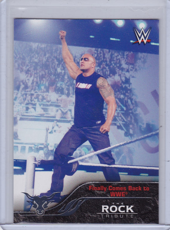 The Rock 2016 Topps WWE The Rock Tribute card #27 of 40