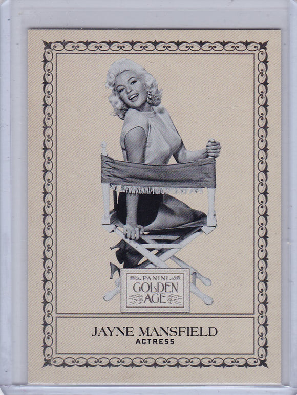 2012 Golden Age Newark Evening World Supplement card #13 Jayne Mansfield