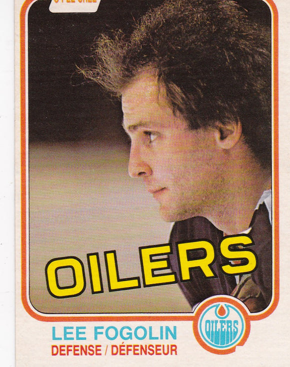 Lee Fogolin 1981-82 O-Pee-Chee card #112