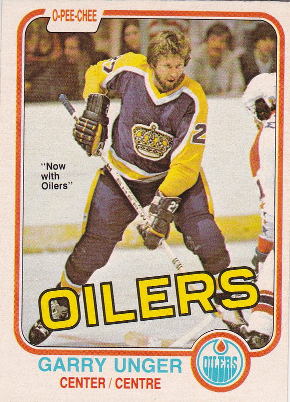 Garry Unger 1981-82 O-Pee-Chee card #123