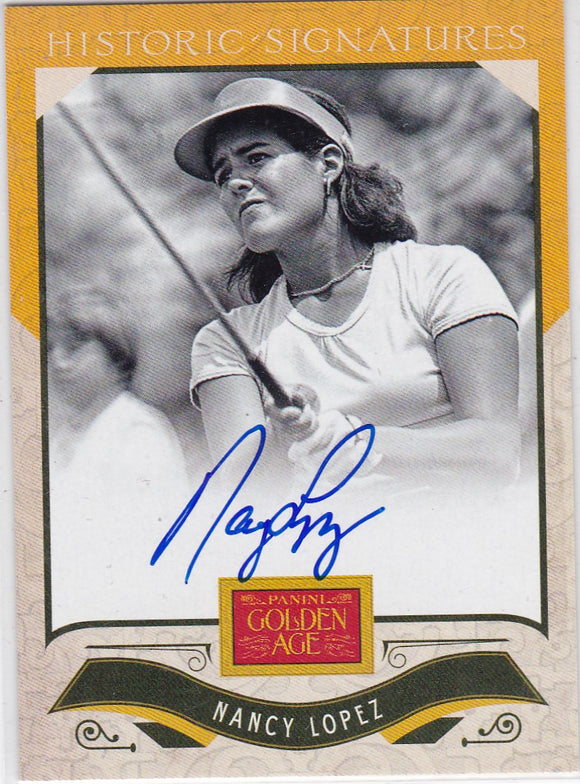 Nancy Lopez 2012 Panini Golden Age Historic Signatures Autograph Card NL