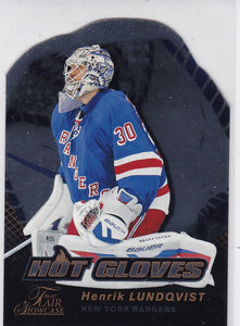 Henrik Lundqvist 2016-17 Showcase Hot Gloves card HG2
