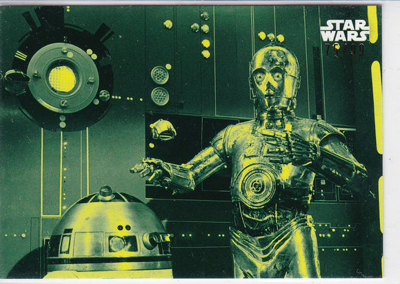 Star Wars A New Hope Black and White card #90 Green #d 75/99