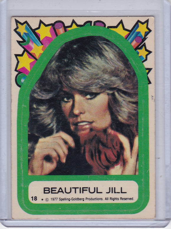 1977 Topps Charlie's Angels Sticker #18 Beautiful Jill