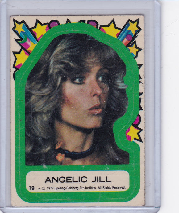 1977 Topps Charlie's Angels Sticker #19 Angelic Jill