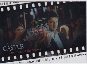 Castle Seasons 1 & 2 Behind The Scenes Insert card BTS-01
