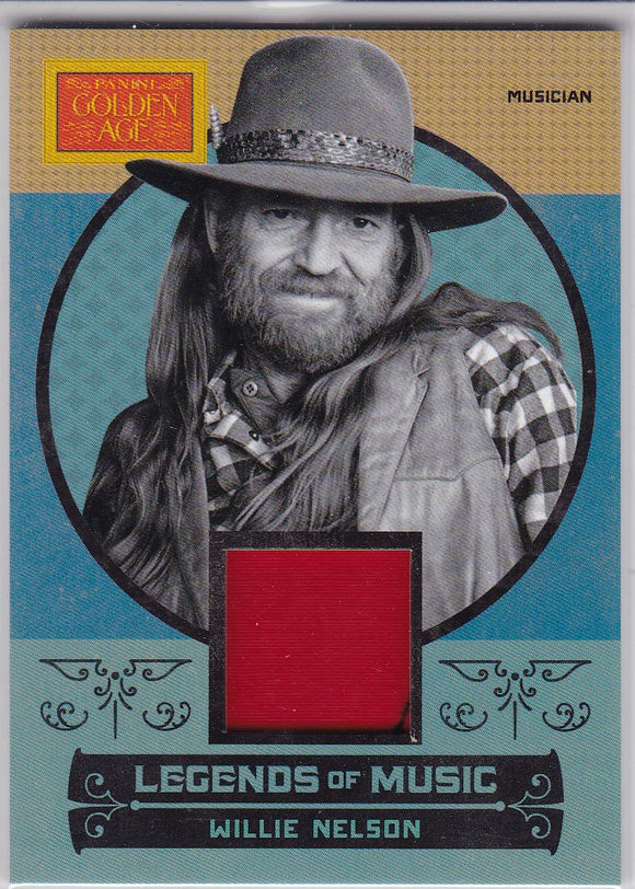 Willie Nelson 2014 Panini Golden Age Legends Of Music Memorabilia card #3