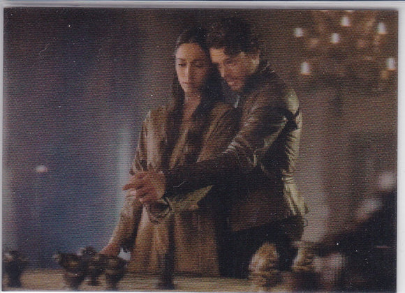 Game Of Thrones Valyrian Steel 3-D Lenticular card L10 Robb and Talisa Discuss Battle Plans