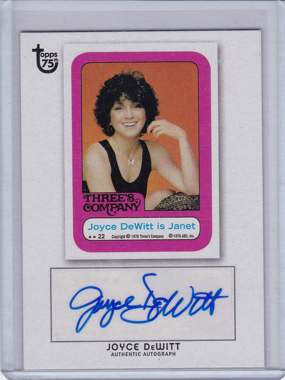 2013 Topps 75th Anniversary Joyce Dewitt as Janet Autograph card