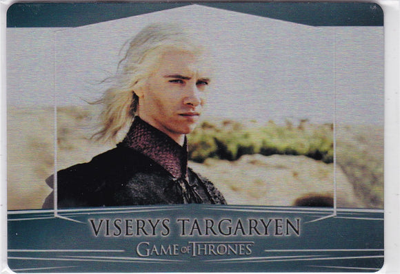 Game Of Thrones Valyrian Steel Metal base card #95 Viserys Targaryen