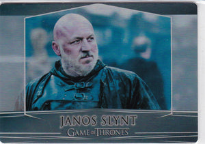 Game Of Thrones Valyrian Steel Metal base card #50 Janos Slynt