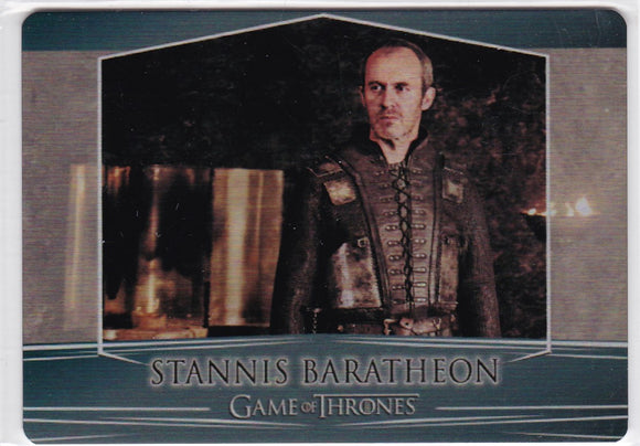 Game Of Thrones Valyrian Steel Metal base card #29 Stannis Baratheon