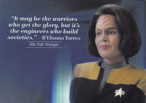 2017 Women of Star Trek 50th Anniversary Quotable card Q15 B'Elanna Torres