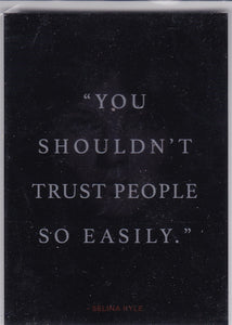 "Gotham Season 1 Quotes Insert card Q6 Selina Kyle ""You Shouldn't Trust..."" Silver Foil"