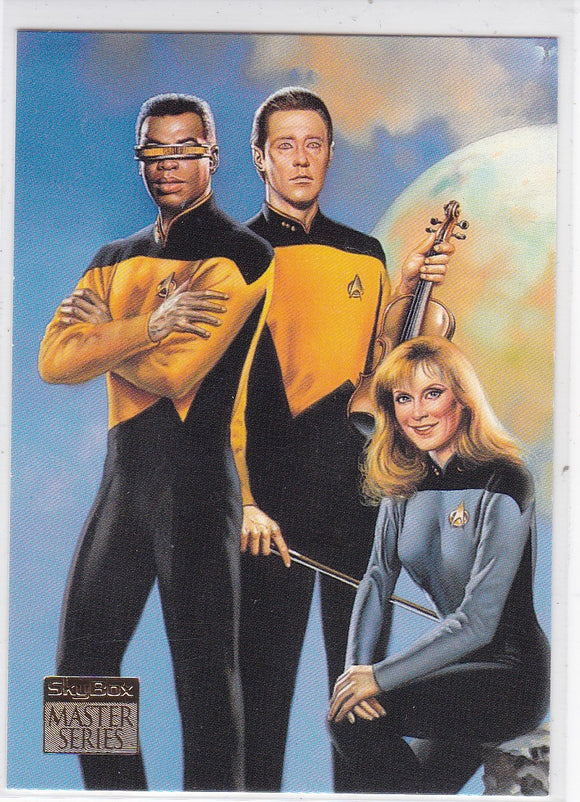 1994 Star Trek Master Series Crew Triptychs Insert card Next Generation Crew F6
