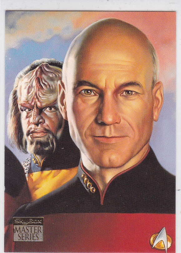 1994 Star Trek Master Series Crew Triptychs Insert card Next Generation Crew F4