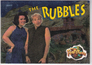 1993 Topps The Flintstones Flint-Foil Insert card 2 of 4 The Rubbles