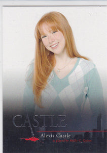 Castle Seasons 1 & 2 Character Bios Insert card C6 Alexis Castle