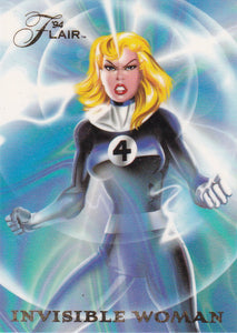 1994 Flair Marvel Annual Power Blast card 17 of 18 Invisible Woman