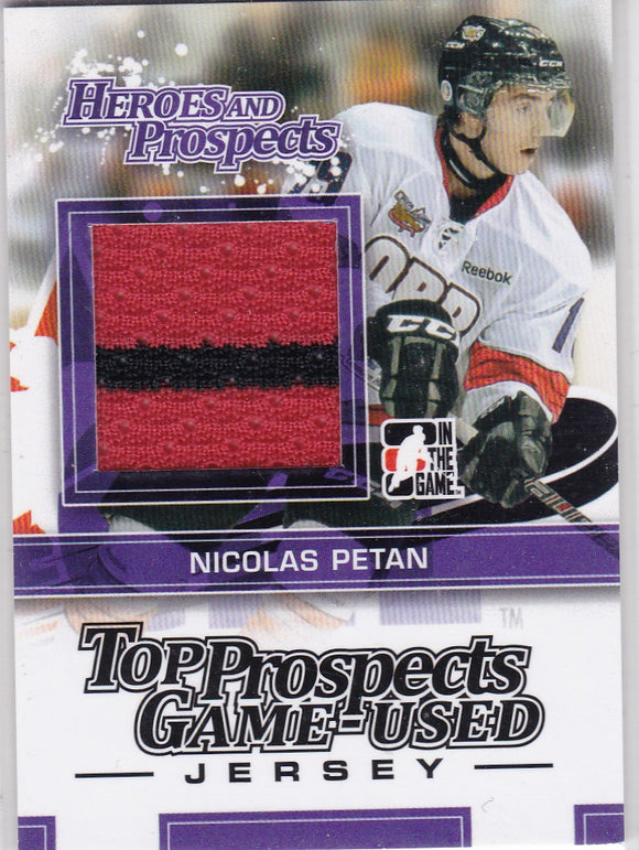 Nicolas Petan 2013-14 Heroes And Prospects Top Prospects Jersey card TPM-21