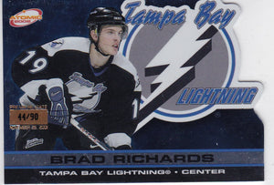 Brad Richards 2001-02 Atomic card #90 Premiere Date #d 44/90
