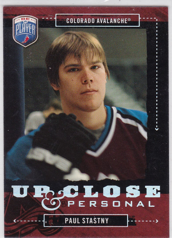 Paul Stastny 2006-07 Be A Player Up Close & Personal card UC45 #d 426/999