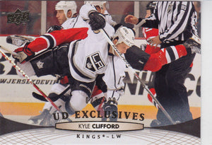 Kyle Clifford 2011-12 Upper Deck card #373 UD Exclusives #d 023/100