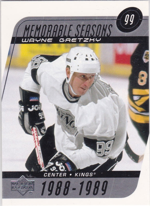 Wayne Gretzky 2002-03 Upper Deck Biography Of A Season card #189