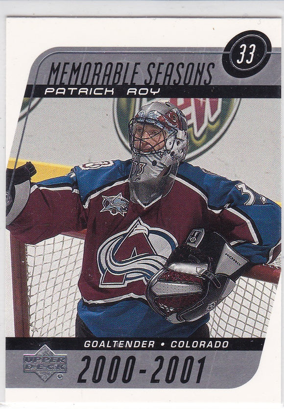 Patrick Roy 2002-03 Upper Deck Memorable Seasons card #185