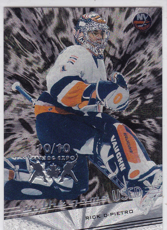Rick Dipietro 2002-03 In The Game Used card #46 Spring Expo #d 10/10